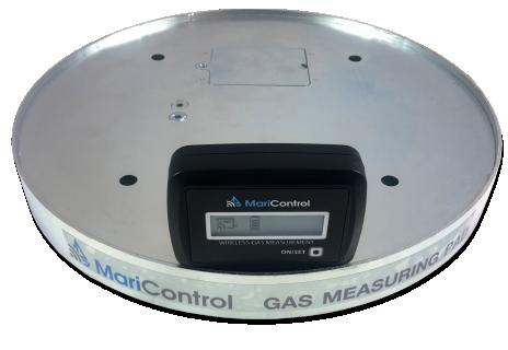 Wireless gas measuring set (pad + display)